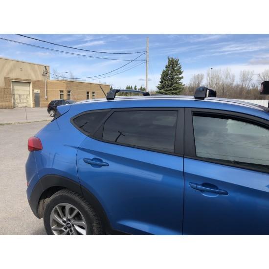 Barres de toit pour Hyundai Tucson 2016-21.